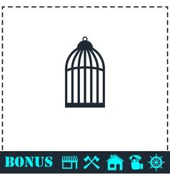 Bird cell icon flat vector