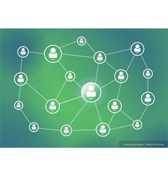 Connecting people - network concept vector