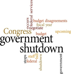 Government shutdown vector