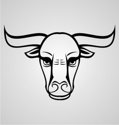 Buffalo head vector