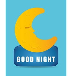 Good night design vector