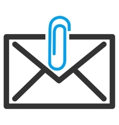 Mail attachement icon vector