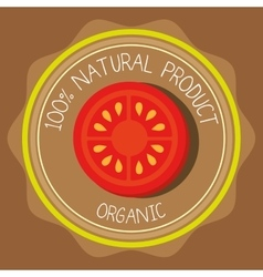 Natural food product vector