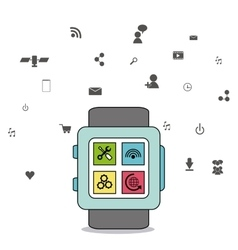 Gadget icon design vector