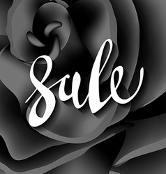 Black rose modern sale lettering vector