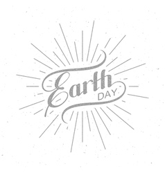 Earth day sign design vector