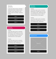 Clean user interface pop up information panels vector