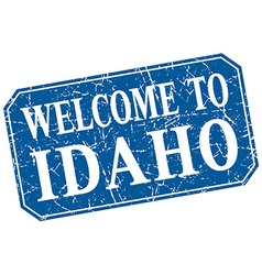 Welcome to idaho blue square grunge stamp vector