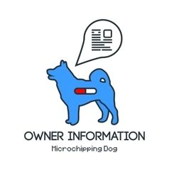 Microchipping of all dogs vector