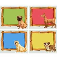 Banner design with pet dogs vector