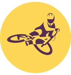 Bicycle racer vector
