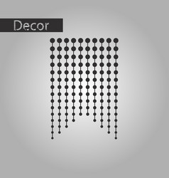 Black and white style icon garland vector