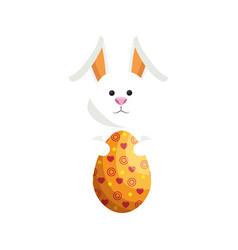 Bunny animal egg easter vector
