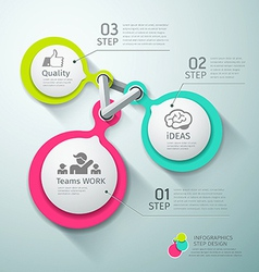 Colorful Circle connection step infographics vector image
