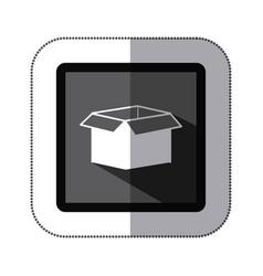 contour box open icon vector image vector image