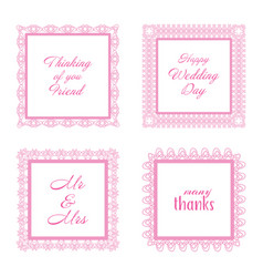 Elegant lace border frames laser cut picture vector