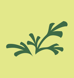 flat leaves logo template vector image