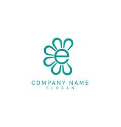 flower e logo vector image