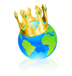 King of the world concept vector