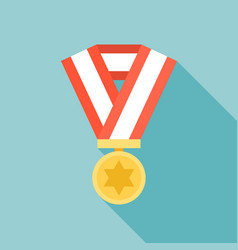 medal icon flat design vector image vector image