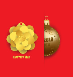 Merry christmas and happy new year 2018 card with vector