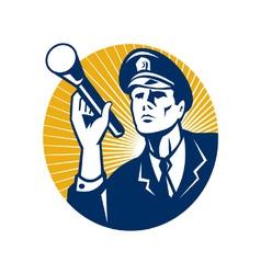 Policeman security guard vector