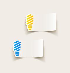 Realistic design element fluorescent light bulb vector
