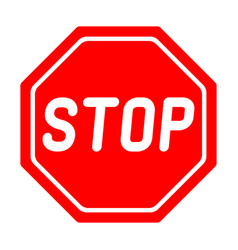 Road sign stop on white background vector