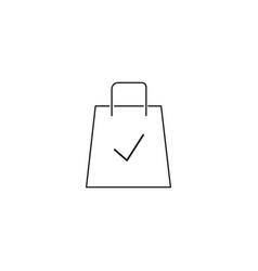 shopping bag ok icon vector image vector image