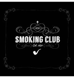 smoking club vector image vector image