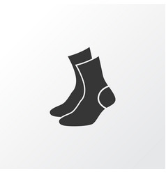 Socks icon symbol premium quality isolated half vector