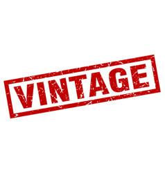 square grunge red vintage stamp vector image