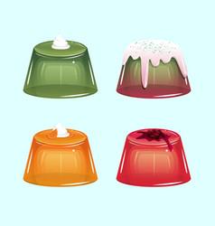 Sweet jelly set vector