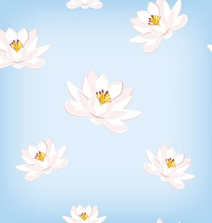 Water lily pattern vector