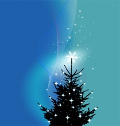 winter background Christmas tree vector image vector image
