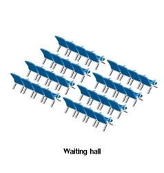 Waiting room at the airport or train station vector