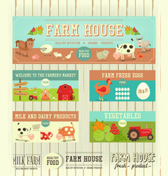 Farm house posters vector