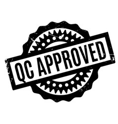 Qc approved rubber stamp vector
