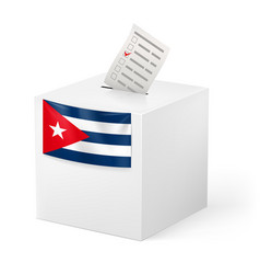 Election in cuba ballot box with voicing paper vector