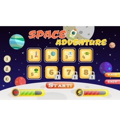 Scifi game interface vector image