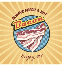 Bacon retro poster vector