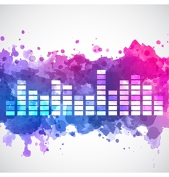 Equalizer with a watercolor background vector