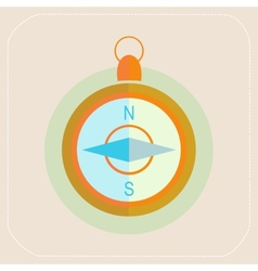 TOURISM COMPASS FLAT ICON vector image