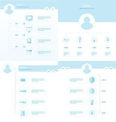 Set of timeline design set blue color vector