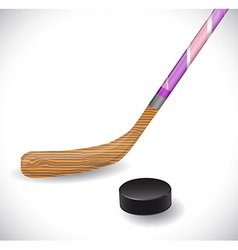 Hockey stick and hockey puck vector