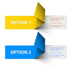 options yellow blue hranate inv vector image