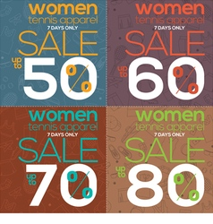 Women tennis apparel sale vector