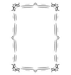 Vintage frame decoration vector