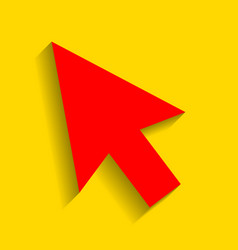 arrow sign red icon with vector image vector image