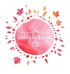 Autumn red background for text vector